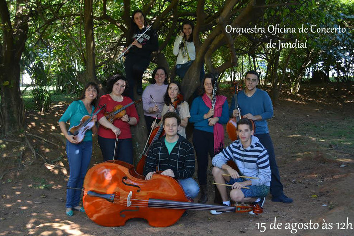 Orquestra Oficina de Concerto de Jundiaí dia 15 de agosto (sábado) às 12h