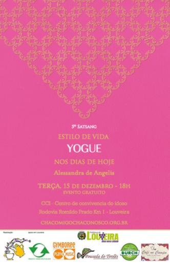 5º Satsang - Estilo de Vida Yogue