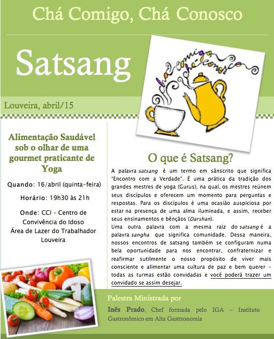 1o Satsang - Alimentação Saudável