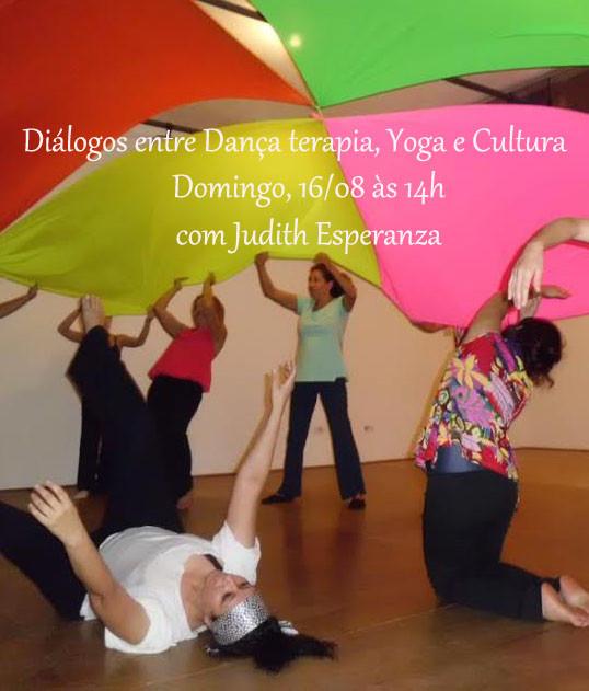 Workshop Diálogos entre Dança Terapia, Yoga e Cultura - Domingo, 16/08 às 14h