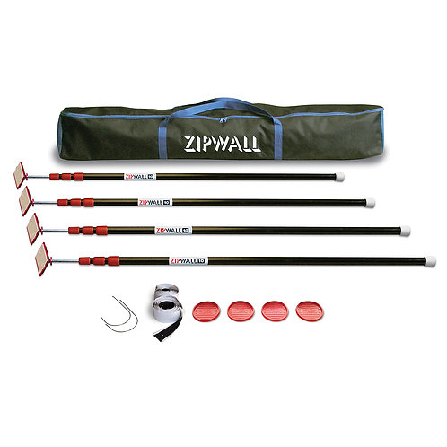 ZipWall 10 - 4 Pack Kit