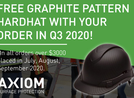 FREE GRAPHITE PATTERN HARDHAT WITH YOUR ORDER IN Q3 2020!