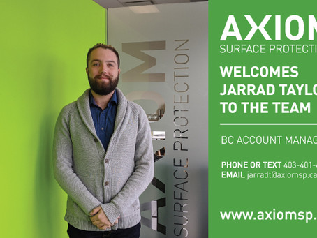 JOIN US IN WELCOMING JARRAD TAYLOR TO TEAM AXIOM