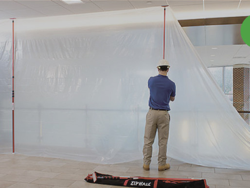 HOW TO SET UP A 20FT HIGH TEMPORARY DUST BARRIER IN MINUTES WITHOUT A LADDER