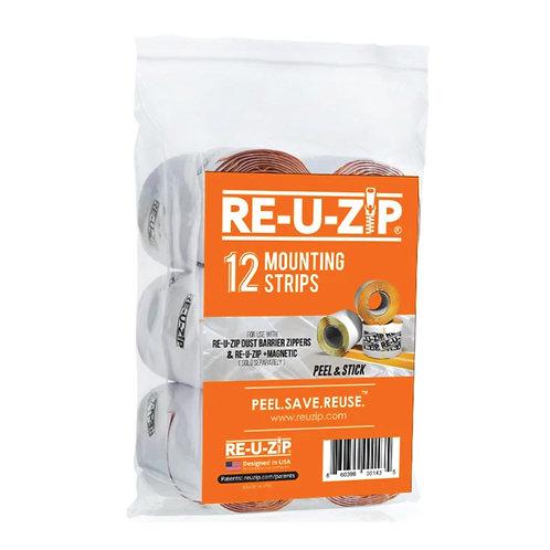 RE-U-ZIP MOUNTING STRIPS (12 Pack)