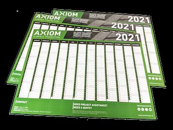 Axiom 2021 Calendar Wall Planner
