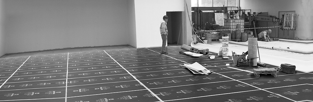 Temporary Floor Protection used on job in Canada