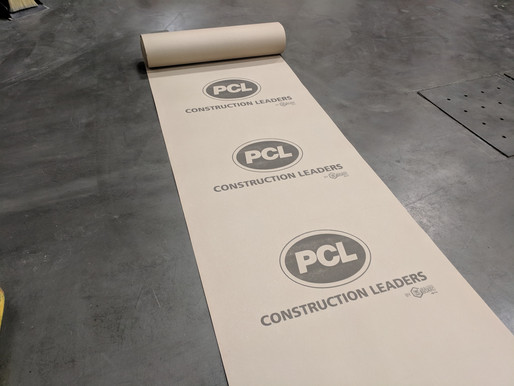 CUSTOM PRINT TEMPORARY FLOOR PROTECTION WITH YOUR OWN LOGO