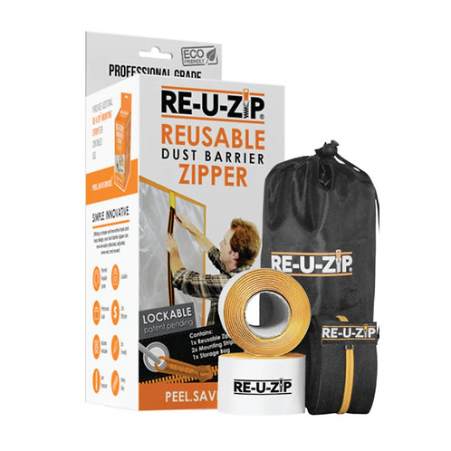 RE-U-ZIP DUST BARRIER ZIPPER - STARTER KIT