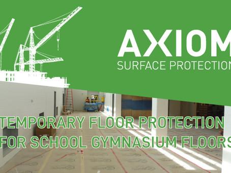 TEMPORARY FLOOR PROTECTION FOR SCHOOL GYMNASIUM FLOORS