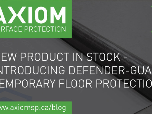 NEW PRODUCT IN STOCK - INTRODUCING DEFENDER-GUARD TEMPORARY FLOOR PROTECTION