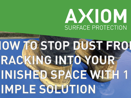 HOW TO STOP DUST FROM TRACKING INTO YOUR FINISHED SPACE WITH 1 SIMPLE SOLUTION