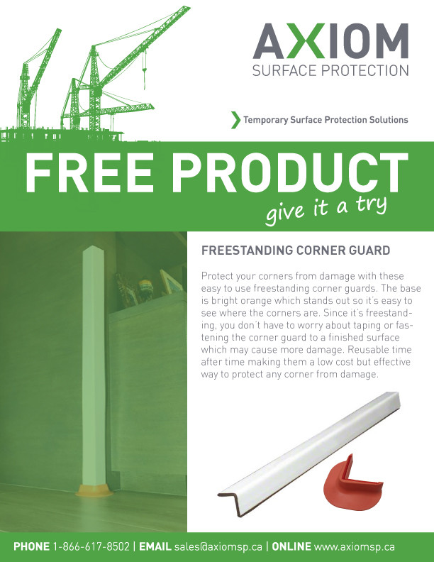 Freestanding Corner Guard - Axiom Surface Protection