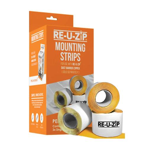 RE-U-ZIP MOUNTING STRIPS (3 Pack)