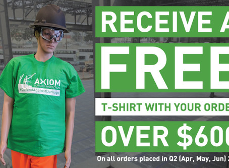 FREE T-SHIRT WITH YOUR ORDER IN Q2 2020!