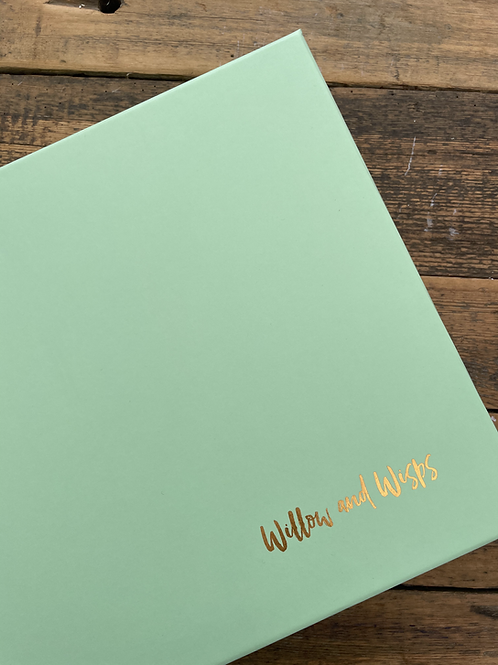 Mint Green Willow and Wisps Gift Box