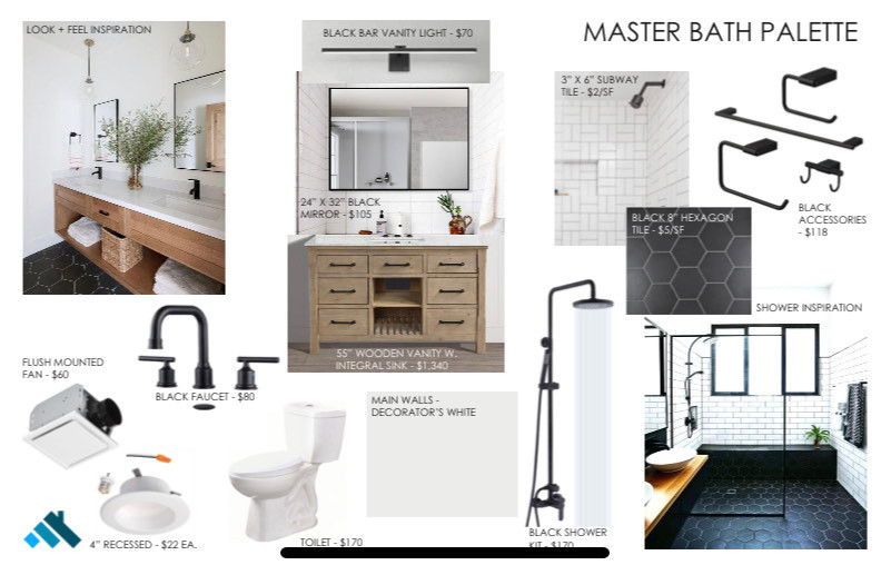 19 Suffolk St Master Bath Inspiration