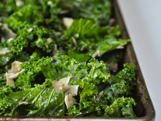 Kale Salad with Toasted Coconut & Sesame Oil