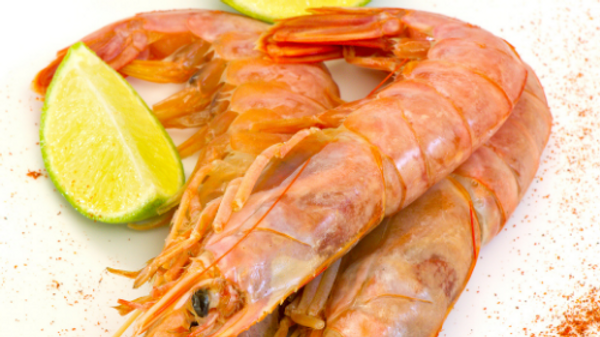 Frozen Gambas Head Shell On