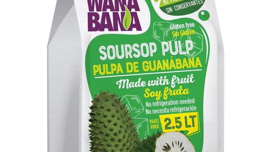 Pulpa  de Guanabana / Soursop pulp  500ml makes 2.5L
