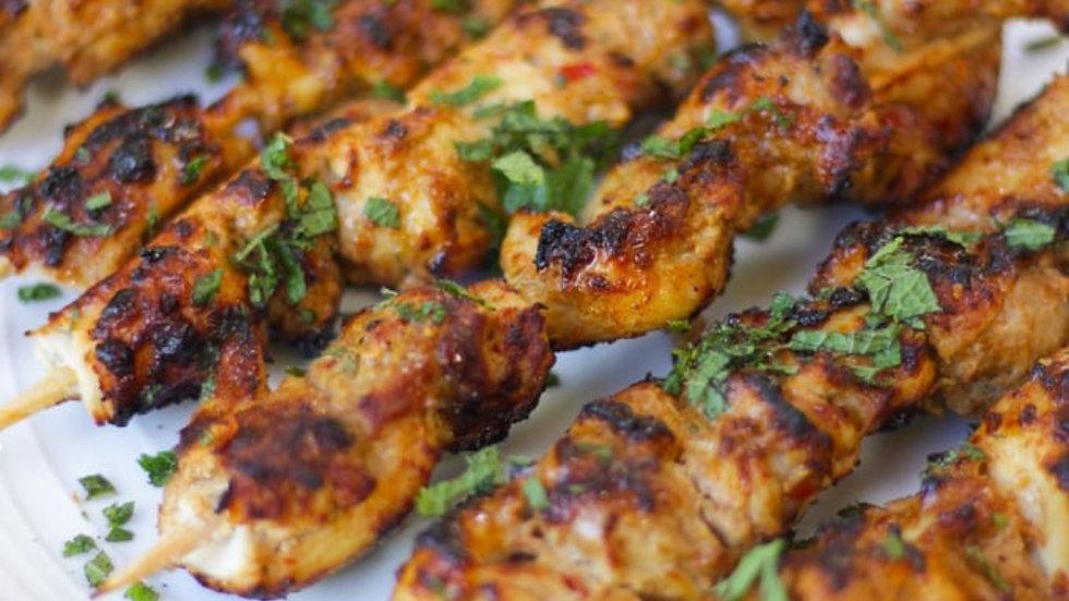 Marinated Chicken Kebabs 450g Pre order