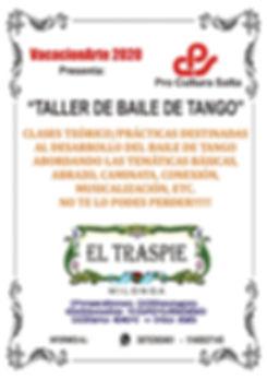 Flyer de Taller de Tango Brisa Bertato.j
