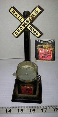 Miniature Railroad Crossing Sign
