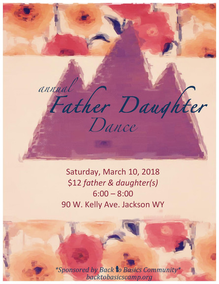 March 10, 2018 Father Daughter Dance