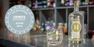 Silver Medal Gin Masters 2019 Hussingtree Asparagus Dry Gin