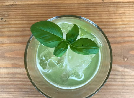 Asparagus Gin and Cucumber Basil Smash Cocktail