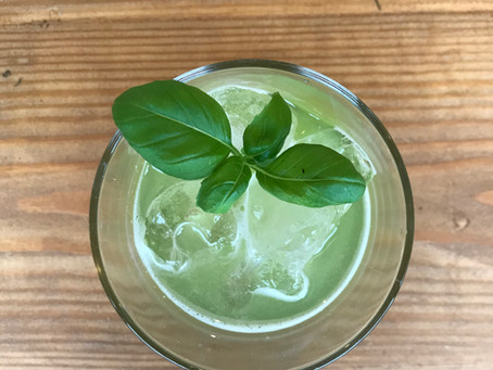 Asparagus Gin and Cucumber Basil Smash Cocktail