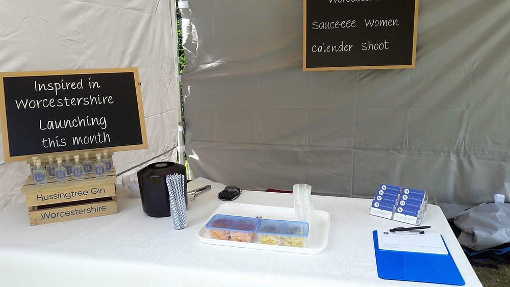 Hussingtree Juneberry Gin Worcestershire Sauceee Women Calendar Girls Charity Shoot Gin Tent