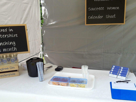Worcestershire Sauce-ee Women Charity Calendar Girls Shoot