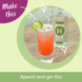 Hussingtree Gin Cocktail-Aperol Gin Fizz