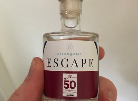 Corporate branded gin miniatures for ArrangeMyEscape