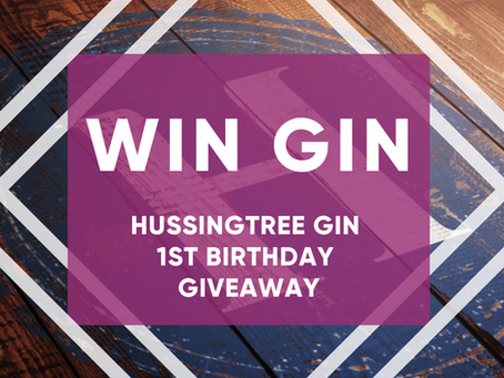 Win a bottle of Hussingtree Gin First Birthday Giveaway