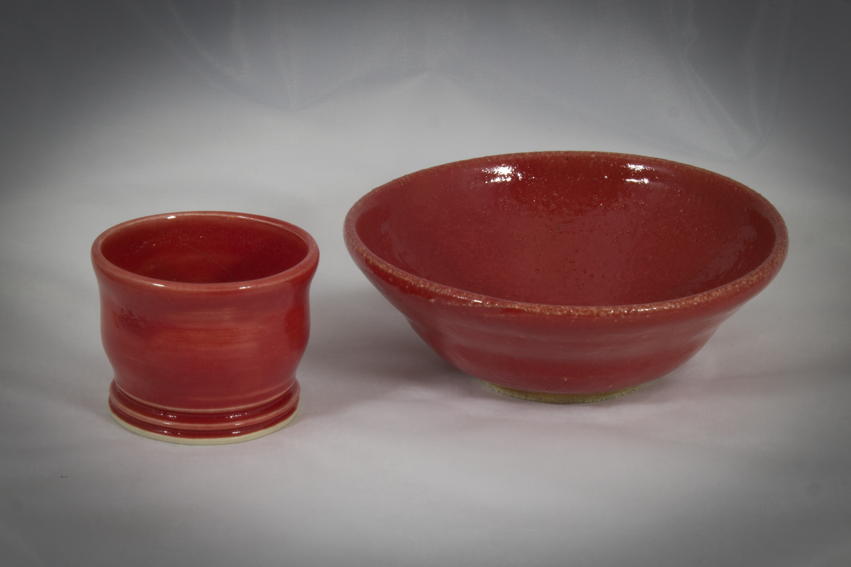"5"" bowl and 2"" cup"