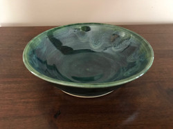 Green Shallow Bowl