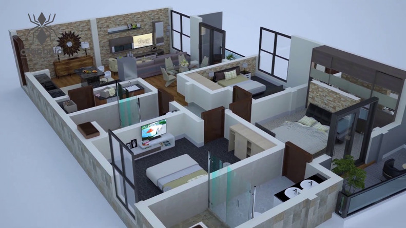 3D Animated Floor Plan