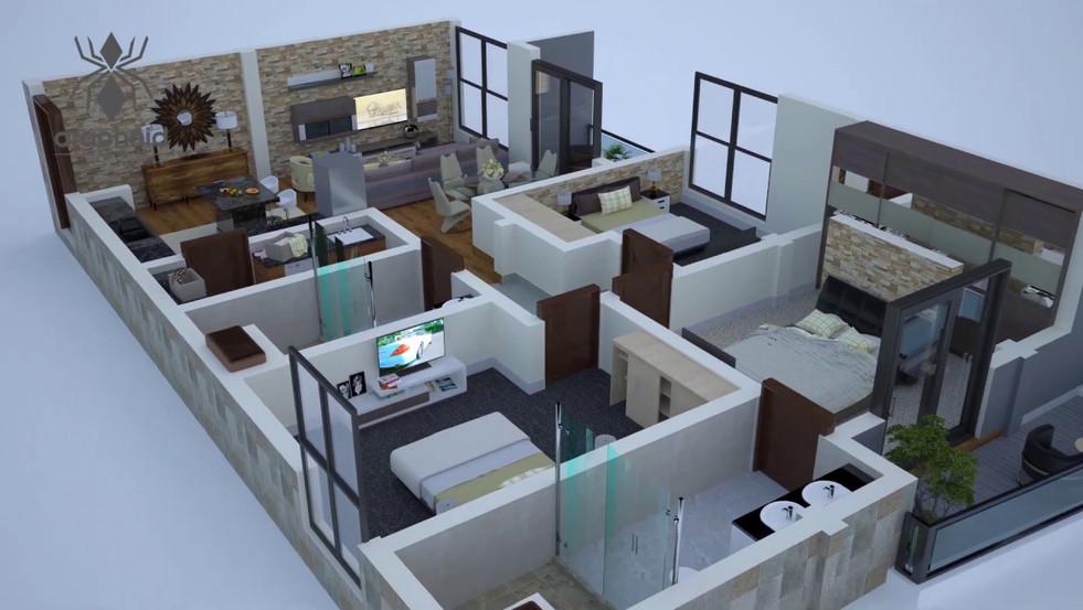 3D Animated Floor Plan
