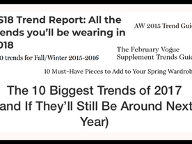 10 Reasons We've Given Up On Trends
