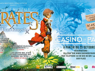 "Composer, co-writer and production of the musical ""Pirates: le destin d'Evan Kingsley"""
