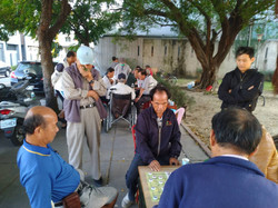 鄭光輝國泰 豐原張炯輝老師議員劉錦和蒞臨參選公園指導