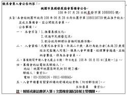 桃園市象棋發展協會第一次籌備會議5