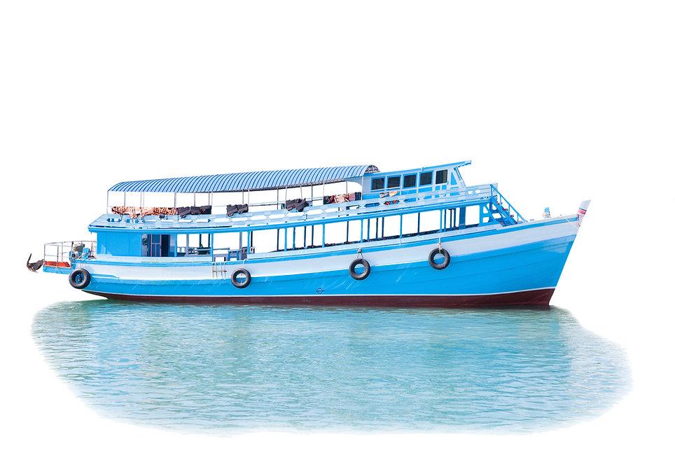 passenger wooden boat in tourist busines