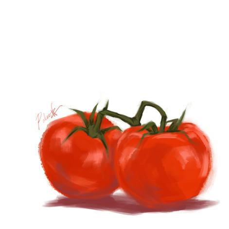 Tomatoes Digital Painting