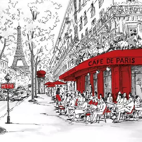 Joli Paris - Decoupage Napkin