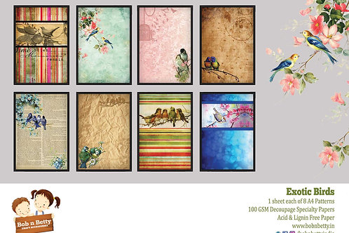 Exotic Birds Theme, Set of 8 - Bob N Betty