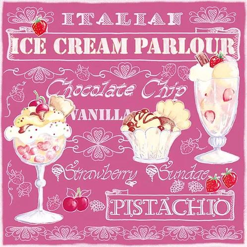 Ice Cream Parlour- Decoupage Napkin