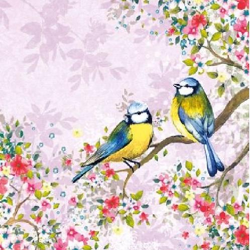 Bird Watching  Lila Purple - Decoupage Napkin